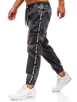 Antracitové pánské džínové baggy kalhoty Bolf 2045