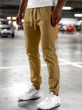 Béžové pánské jogger kalhoty Bolf 1145