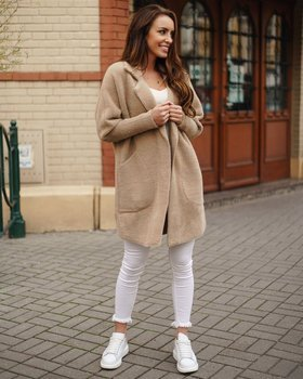 Béžový dámský kabát Bolf 7108