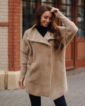 Béžový dámský kabát Bolf 7118-1