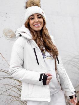 Bílá dámská zimní lyžařská bunda Bolf HH012