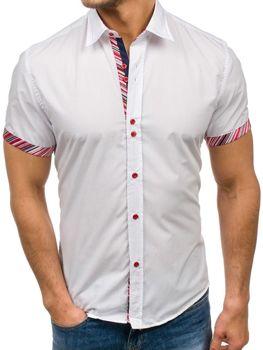 b97c71a9e51 Bílá pánská elegantní košile s krátkým rukávem Bolf 5205