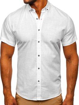 Bílá pánská košile s krátkým rukávem Bolf 20501