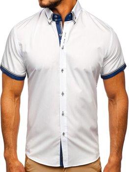 Bílá pánská košile s krátkým rukávem Bolf 2911-1