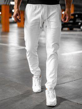 Bílé pánské jogger kalhoty Bolf 1145