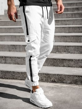 Bílé pánské jogger kapsáče Bolf 0012