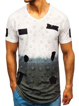 Bílé pánské tričko s potiskem Bolf 318