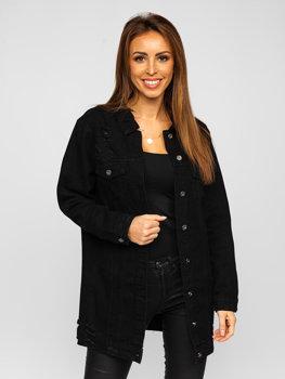 Černá dámská džínová bunda Bolf WL1743-1