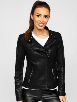 Černá dámská koženková bunda Bolf 2052