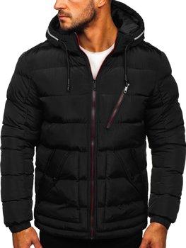 Černá dámská prošívaná zimní bunda s kapucí Bolf 1181