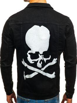 Černá pánská džínová bunda Bolf 2052
