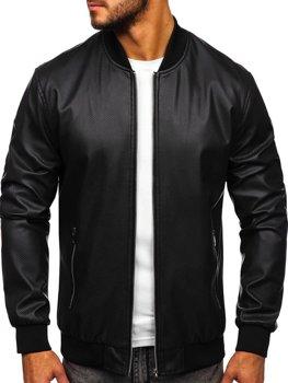 Černá pánská koženková bunda Bolf 6121