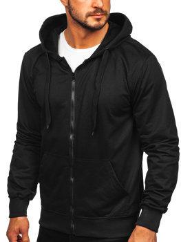 Černá pánská mikina na zip s kapucí Bolf B10002
