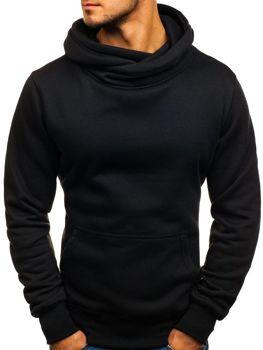 Černá pánská mikina s kapucí Bolf 2078