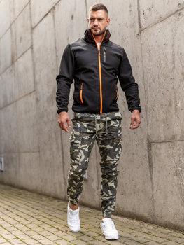 Černá pánská přechodová softshellová bunda Bolf KS2185