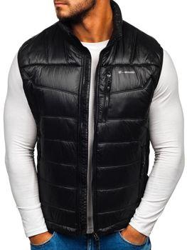 Černá pánská prošívaná vesta Bolf K002