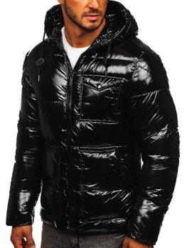 Černá pánská prošívaná zimní sportovní bunda Bolf 973