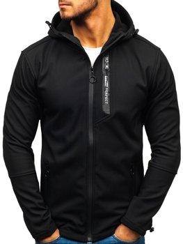 Černá pánská softshellová přechodová bunda Bolf 5480-A