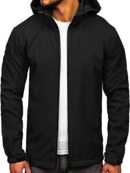 Černá pánská softshellová přechodová bunda Bolf 56008
