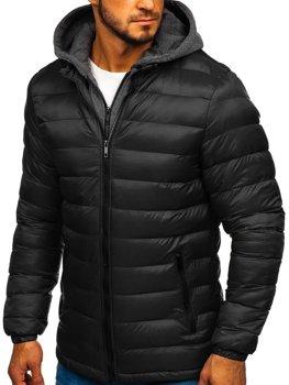 Černá pánská sportovní zimní bunda Bolf JP1102