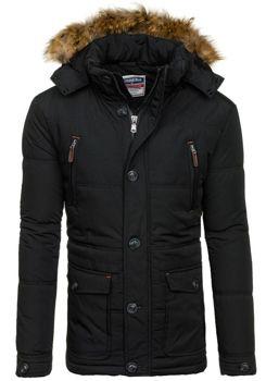 Černá pánská zimní bunda Bolf 1632