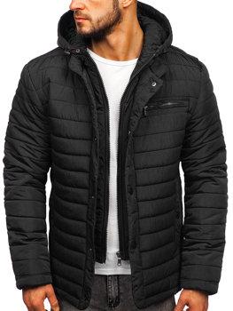 Černá pánská zimní bunda Bolf 1675