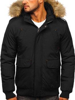 Černá pánská zimní bunda Bolf 1770