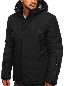 Černá pánská zimní lyžařská sportovní bunda Bolf 9801