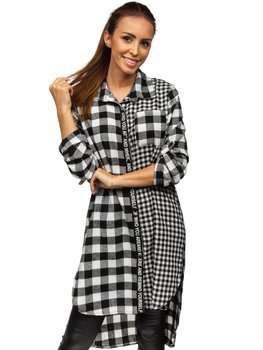 Černé dámské kárované šaty Bolf 6614