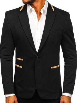 Černé elegantní pánské sako Bolf 9400-1