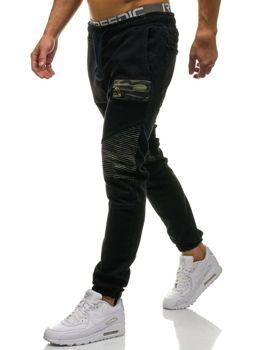 Černé pánské džínové jogger kahoty Bolf 817