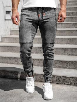 Černé pánské džínové jogger kahoty Bolf HY890
