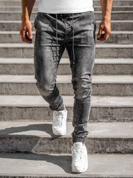 Černé pánské džínové jogger kahoty Bolf KA1317
