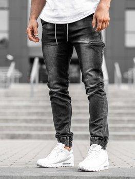 Černé pánské džínové jogger kalhoty Bolf KA735