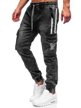 Černé pánské džínové jogger kapsáče Bolf TF054