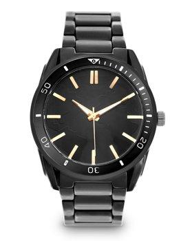 Černé pánské ocelové hodinky Bolf 5690