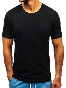 Černé pánské tričko bez potisku Bolf T1280
