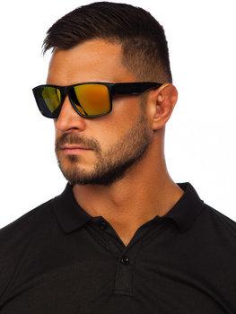 Černo-zlaté pánské sluneční brýle Bolf PLS4