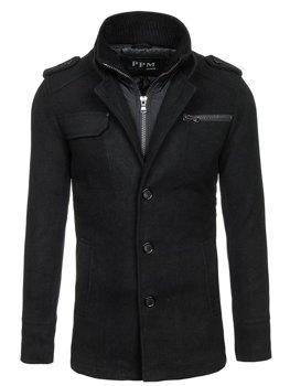 Černý pánský kabát Bolf 8856C