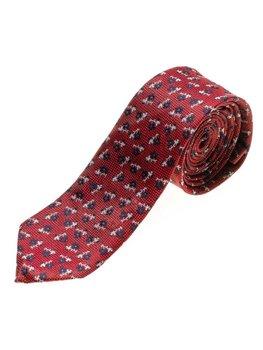 Červená pánská elegantní kravata Bolf K103