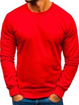 Červená pánská mikina bez kapuce Bolf 22003