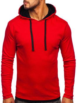 Červená pánská mikina s kapucí Bolf 03