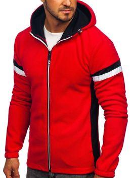 Červená pánská mikina s kapucí Bolf YL008