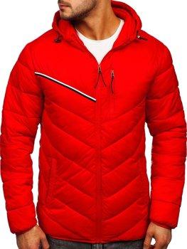 Červená pánská přechodová bunda Bolf M13008