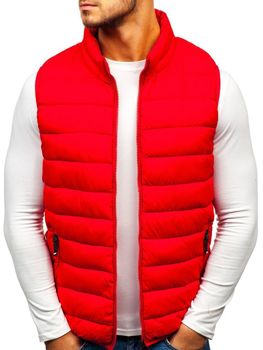 806fce2d5282 Červená pánská prošívaná vesta Bolf 1262
