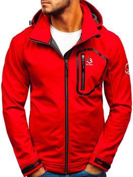 Červená pánská softshellová bunda Bolf 004A fcbfce0cfa