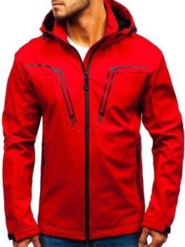 Červená pánská softshellová přechodová bunda Bolf 5427