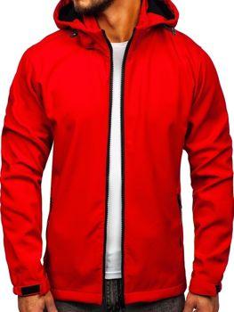 Červená pánská softshellová přechodová bunda Bolf 56008