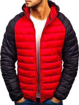 Červená pánská sportovní zimní bunda Bolf SM15
