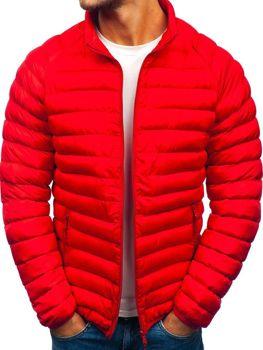 Červená pánská sportovní zimní bunda Bolf SM53-A
